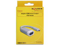 Delock  Adapter HDMI-micro D male > VGA female 65470 kép, fotó