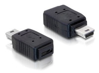 Delock  Adapter USB mini male > USB micro-A+B female 65155 kép, fotó