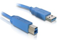 Delock  Cable USB 3.0 A-B male/male 1m 82580 kép, fotó