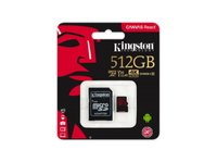 Kingston  512GB Canvas React UHS-1 U3 V30 A1 microSDXC memóriakártya adapterrel SDCR/512GB kép, fotó