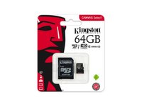 Kingston  64GB Canvas Select 80R Class 10 UHS-1 microSDXC memóriakártya adapterrel SDCS/64GB kép, fotó