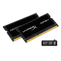 Kingston  HyperX Impact Black 8GB(2x4) DDR3L 1600MHz notebook memória  HX316LS9IBK2/8 kép, fotó