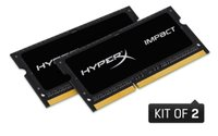 Kingston  HyperX Impact Notebook Memória- 8GB - DDR4 2400MHz (2x4Gb) HX424S14IBK2/8 kép, fotó
