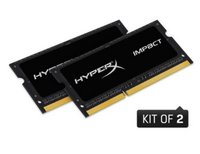 Kingston  Notebook Memória HyperX DDR3L 8GB 1866MHZ CL9 SODIMM (Kit of 2) 1.35V Impact HX318LS11IBK2/16 kép, fotó