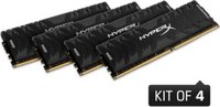 Kingston  64GB/3333MHz DDR-4 (Kit 4db 8GB) HyperX Predator XMP desktop memória HX433C16PB3K4/64 kép, fotó