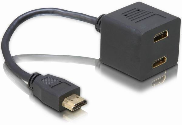 Delock  Adapter HDMI male > 2 x HDMI female
