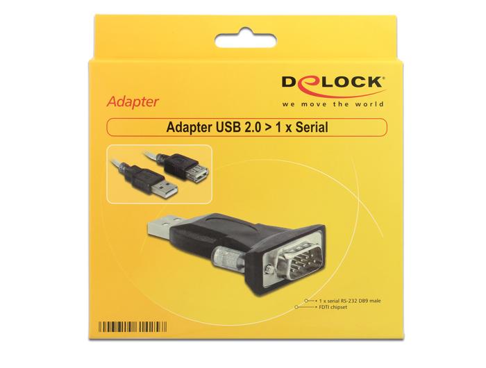 Delock  Adapter USB 2.0 to 1x Serial