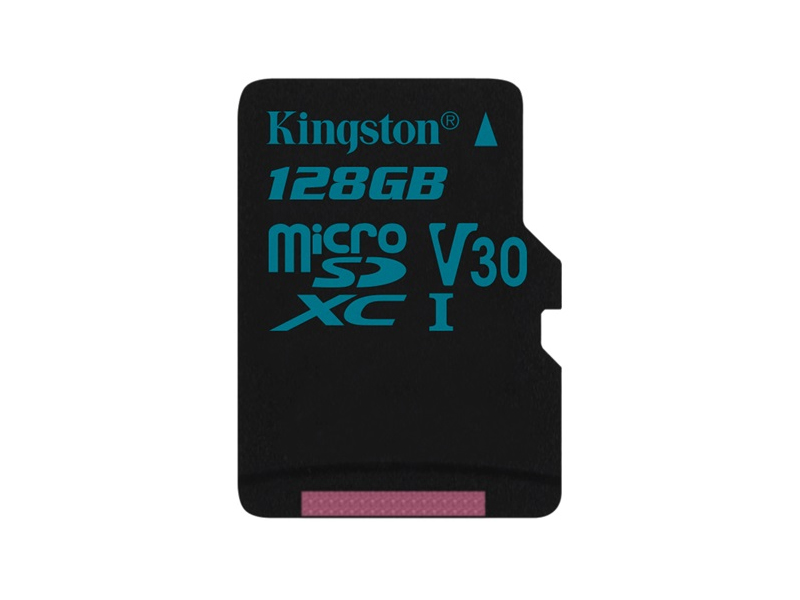Kingston  128GB Canvas Go! UHS-1 U3 V30 microSDXC memóriakártya adapterrel