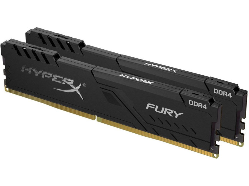 Kingston  2x4GB/2666MHz DDR4 CL16 HyperX FURY Black desktop memóriakészlet