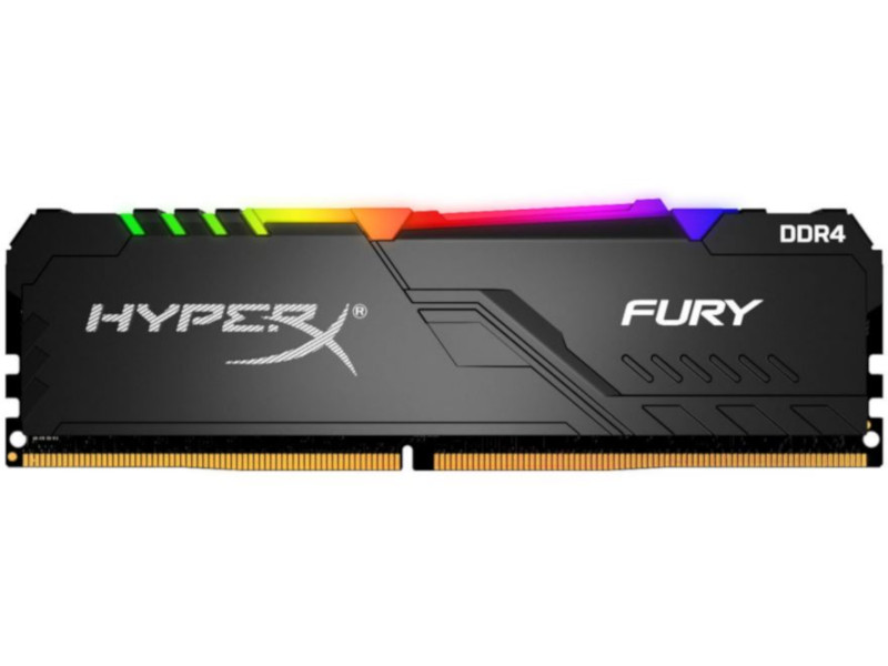 Kingston  8GB/3200MHz DDR4 1RX8 CL16 HyperX FURY RGB desktop memória