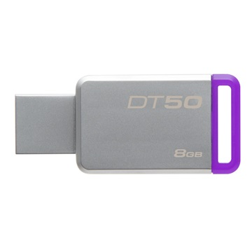 Kingston  DataTraveler 50 8GB USB 3.0 pendrive - Ezüst/Lila