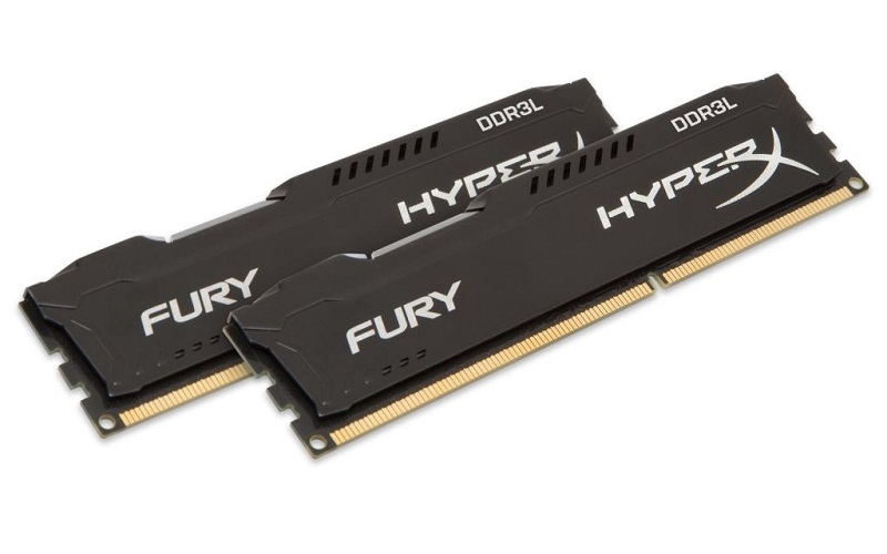 Kingston  HyperX Fury Black Series 8GB DDR3L 1600MHz LV Memória (Kit of 2)