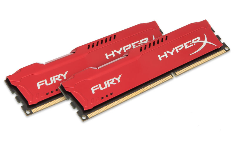 Kingston  HyperX Fury Memória - 16 GB DDR3 1600MHz (2 x 8 GB) - Red