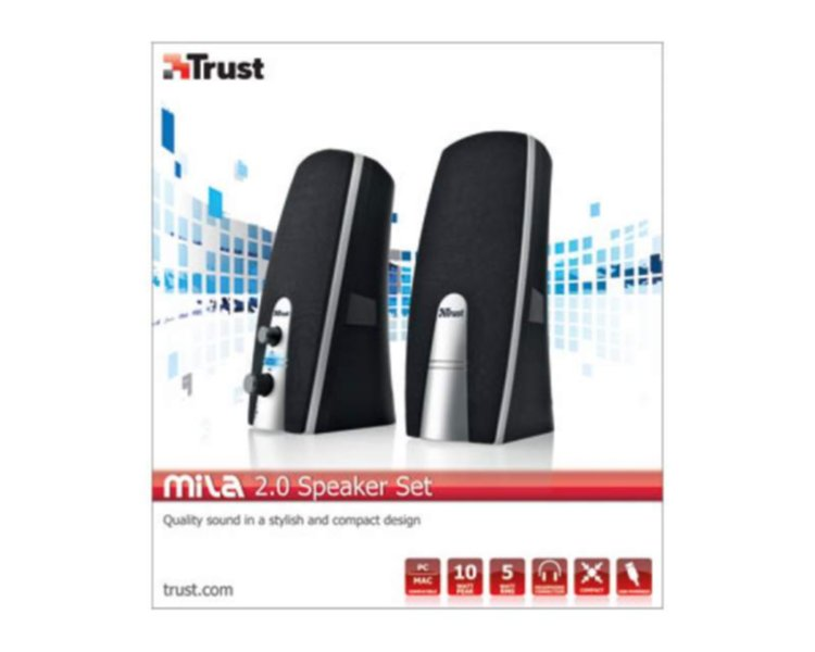 Trust MILA Stereo Hangszóró 5W USB olcsó vásárlás 2ef52b0042
