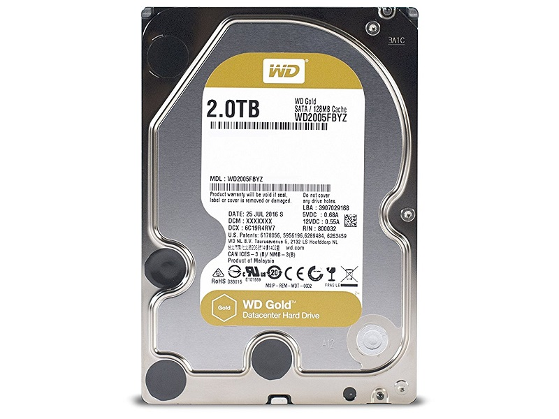 "Western Digital  Gold Enterprise 2TB 3.5"" SATA3 HDD"