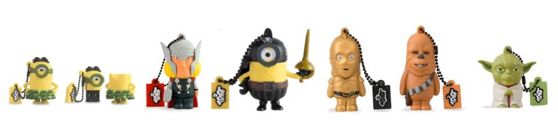 Star-Wars,-minions-pendrive